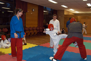 Having fun teaching and learning kids karate