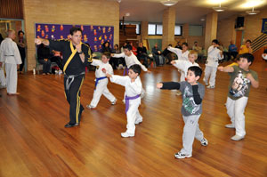 Kids love martial arts classes