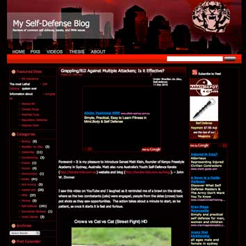 Screenshot of My Self-Defense Blog
