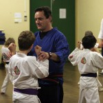 Sensei Matt Klein teaching kids karate
