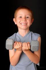 boy strength training for martial arts