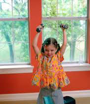 Girl lifting weights
