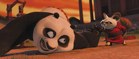 Po, the lovable star of Kung Fu Panda 2