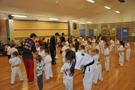 structured martial arts class for children