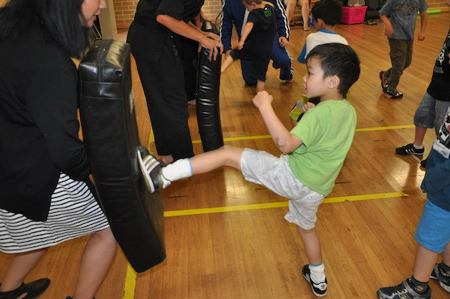 Children becoming more independent in karate classes